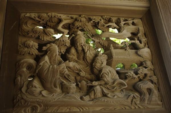 龍口寺山門の装飾