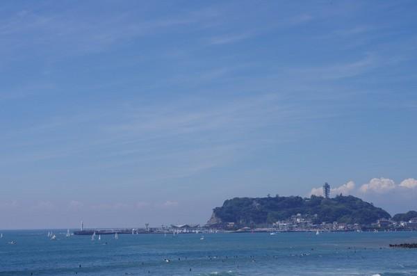 ここからも江ノ島がよく見えます