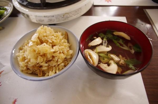 松茸ご飯と吸い物