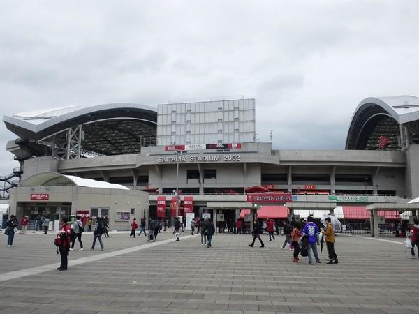 埼玉スタジアム2002に到着
