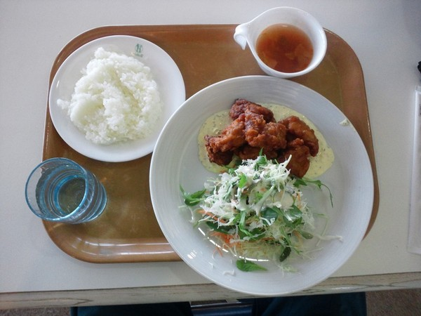 レストハウスで昼食