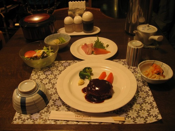 ペンションの夕食