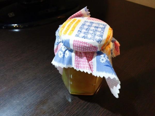 お土産の自家製りんごジャム