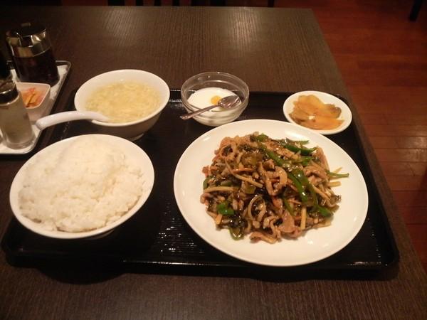高菜豚野菜炒め定食