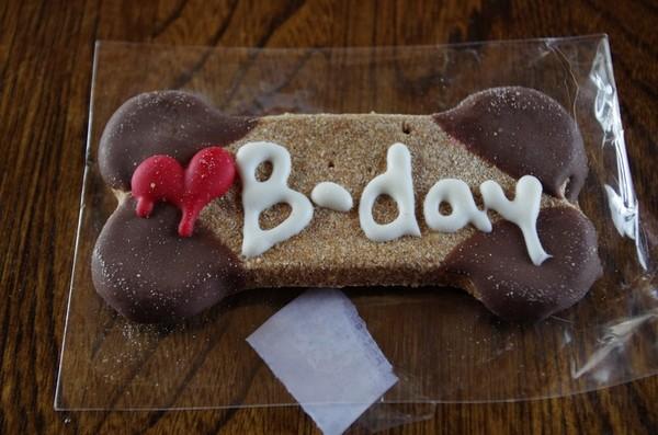 誕生日プレゼントのクッキー