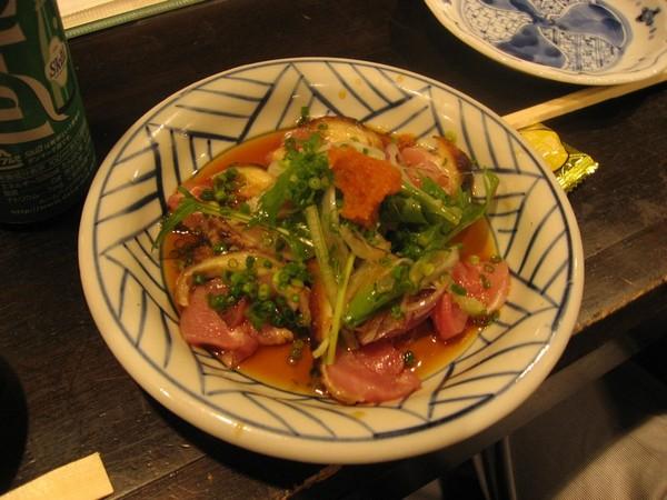 地鶏たたきポン酢