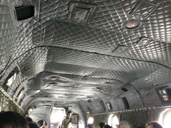 CH-47チヌークの内部