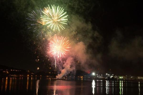 新年を祝う花火