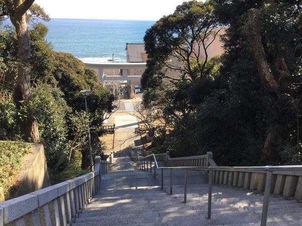 大洗磯前神社の階段