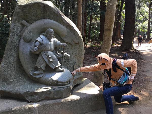 鹿島大明神のオブジェ