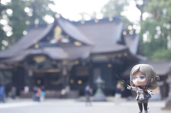 香取神宮本殿と香取先生