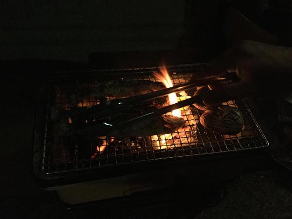 アマゴ(アメゴ)を焼く