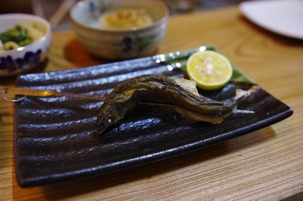 農家民宿 ゆずの里いづみ 地元の食材を使った夕食 鮎の塩焼き
