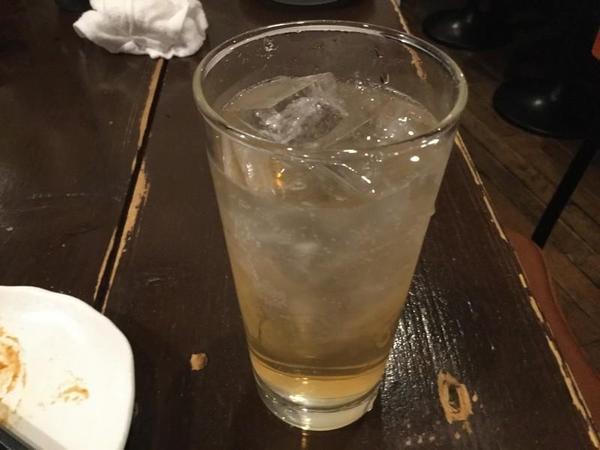 ゆず梅酒ソーダ割