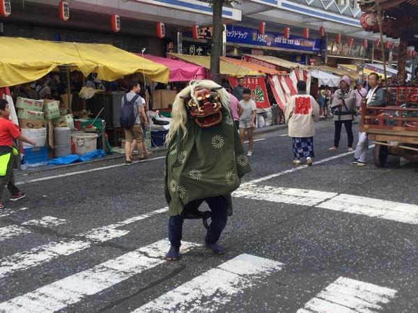 横須賀のお祭り 獅子舞