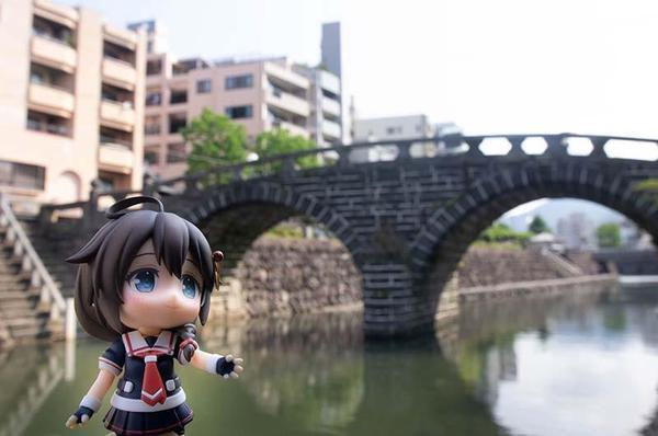 めがね橋と時雨ちゃん