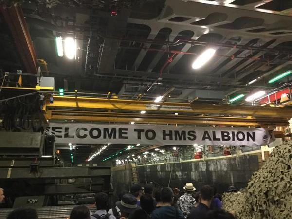 HMS Albion(アルビオン)格納庫