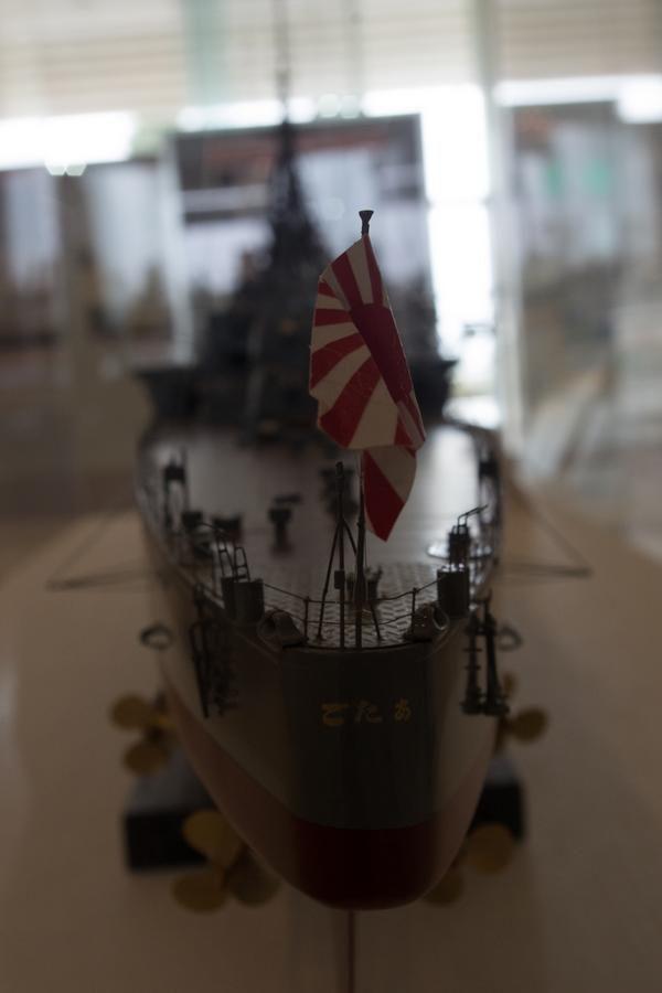重巡愛宕の模型(後ろから
