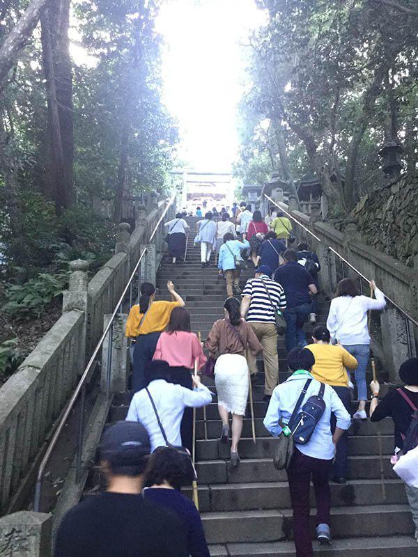 最後の階段を上る